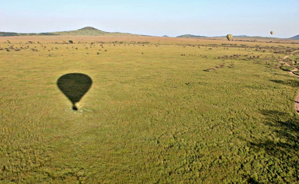 Balloon-Safari über die Serengeti