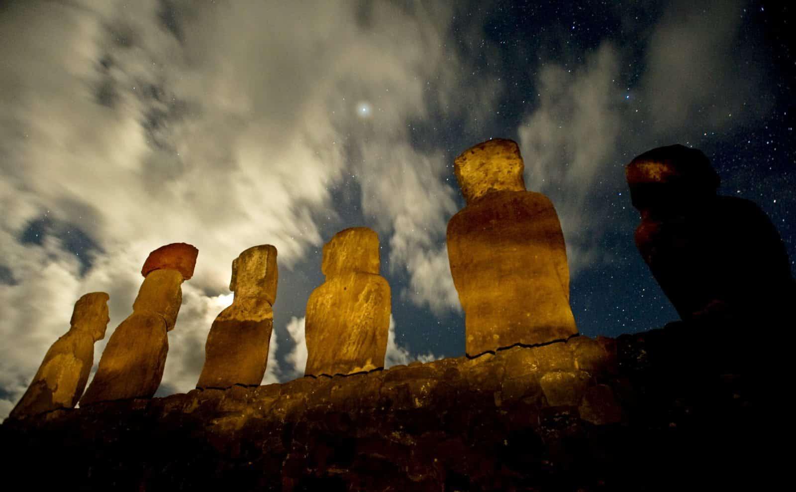Moai-Statuen auf der Osterinsel