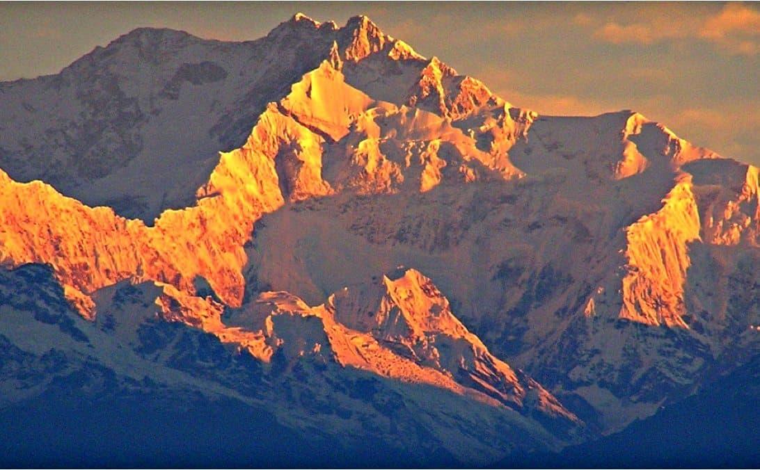 Sonnenuntergang in Sikkim