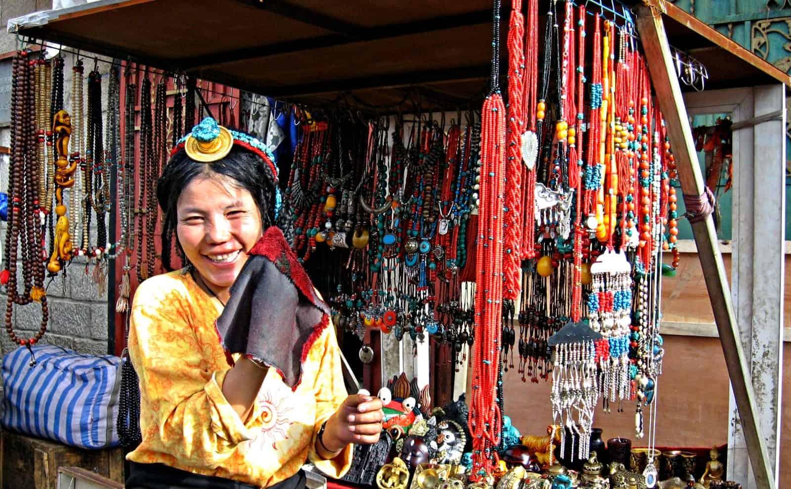 Tibetische Händlerin