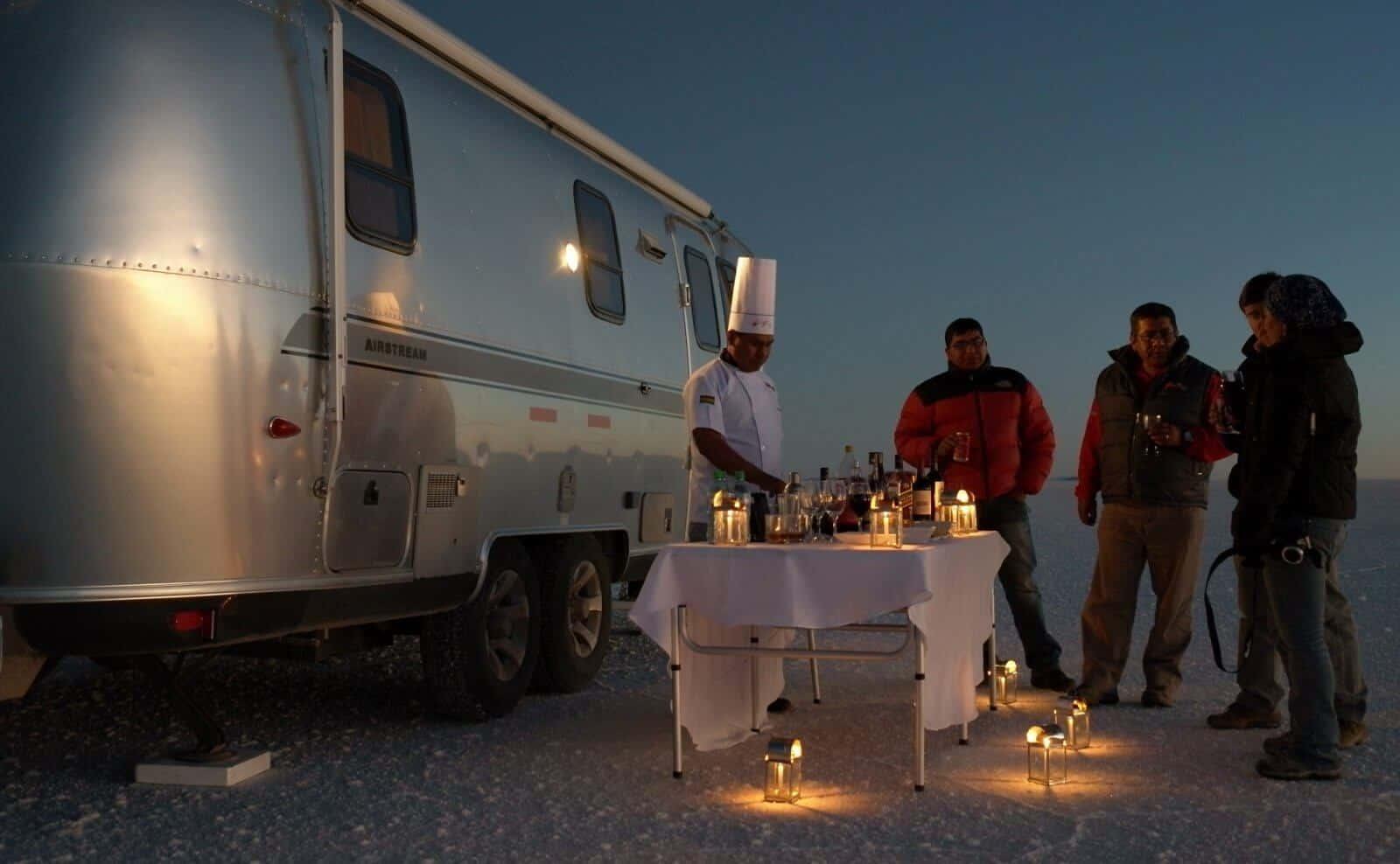 Airstream Camper Dinner