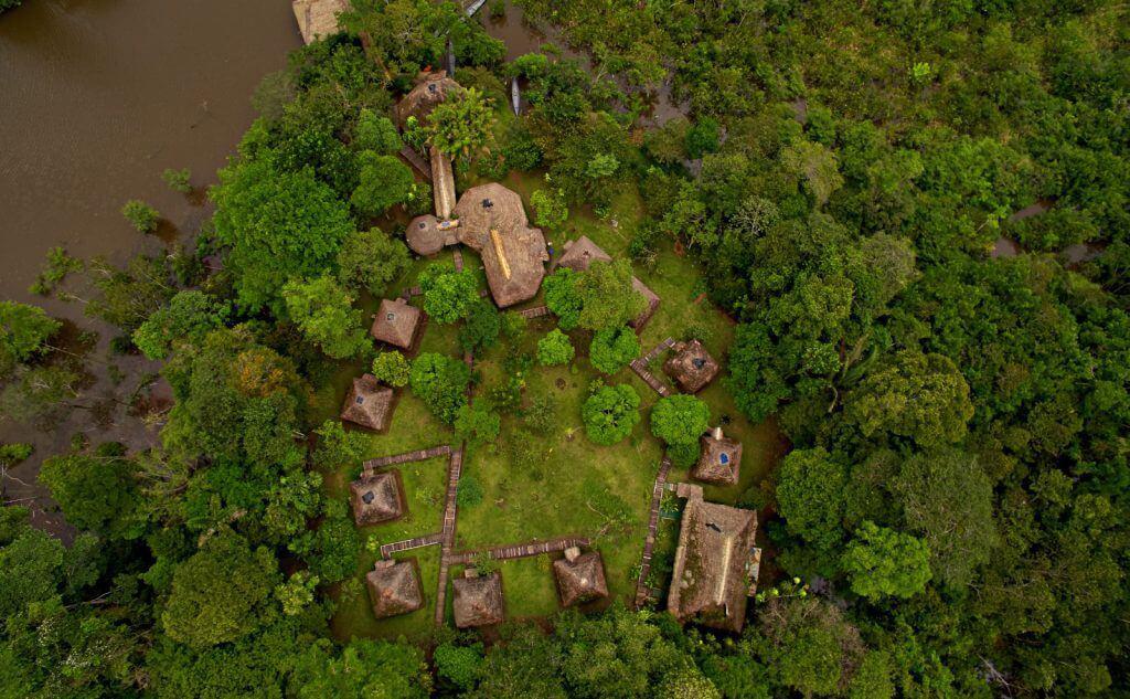 Sani Lodge von oben