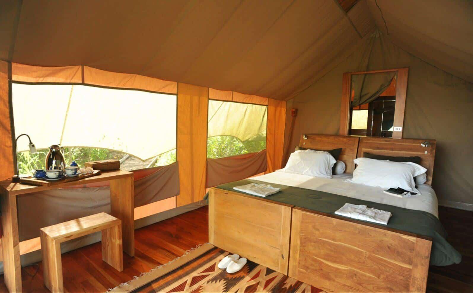 Galapagos Safari Camp Zelt von innen