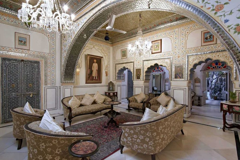 Indien_Alsisar_Haveli_Jaipur_Lounge