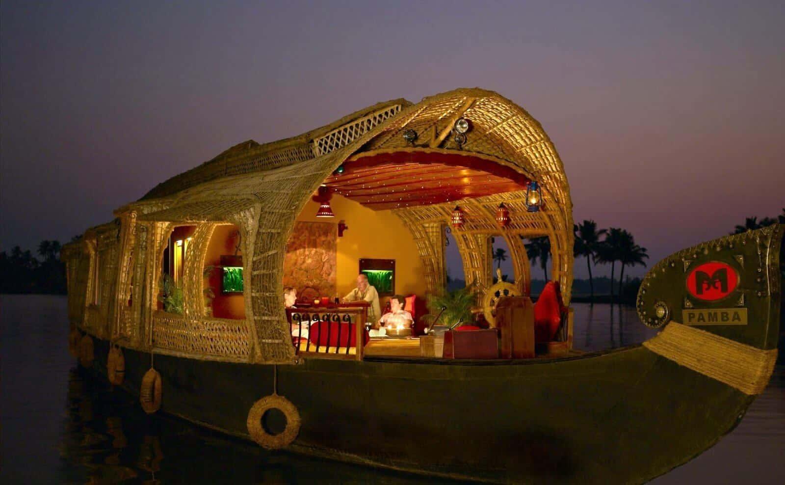 Hausboot in Indien