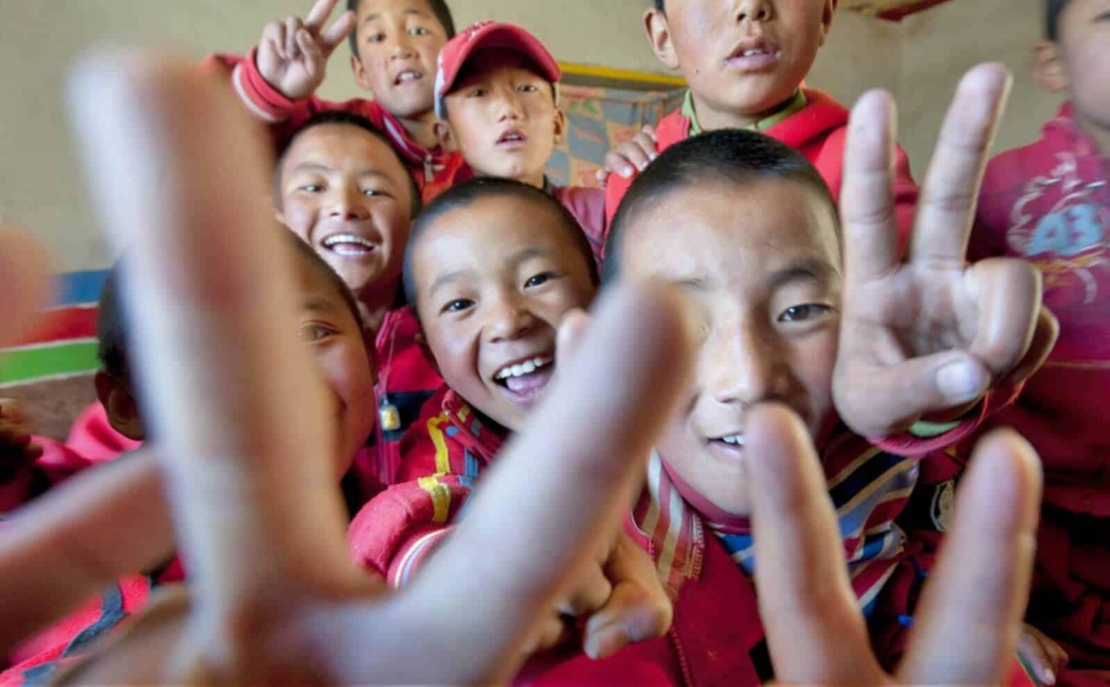 Einheimische Kinder in Nepal