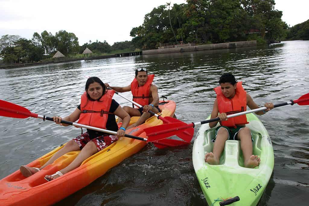 Kayaken am Nicaragua See