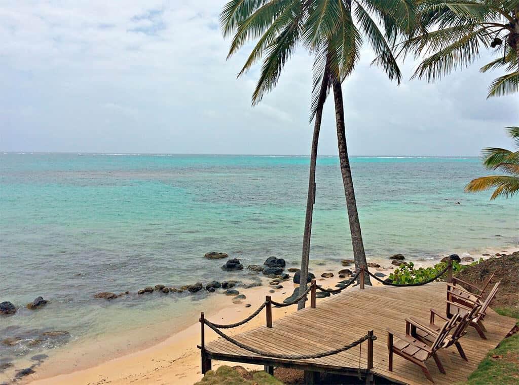 Yemaya Insel Terrasse mit Seeblick