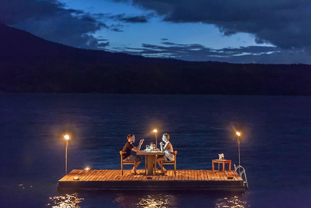 Jicaro Island Lodge Dinner