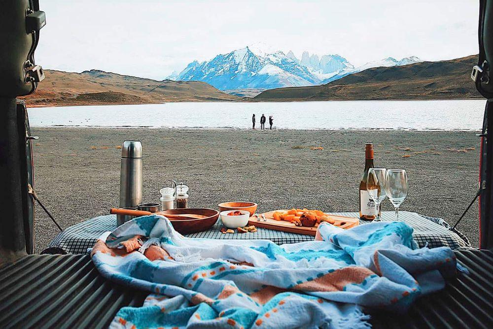 Patagonien camping breakfast
