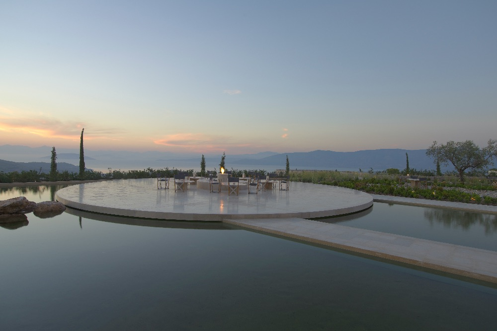amanzoe central terrace athen